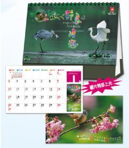 「野鳥漫遊」 28開14張三角臺曆 ﹝大﹞